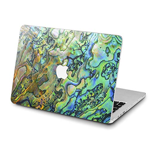 Lex Altern Abalone Shell Case MacBook Pro 13 inches 15 12 11 2018 Air 2017 Retina Nature Cover Hard Pearl Green Apple 2017 2016 Abstract Laptop Art Protective Girl Women Print Touch Bar Iridescent
