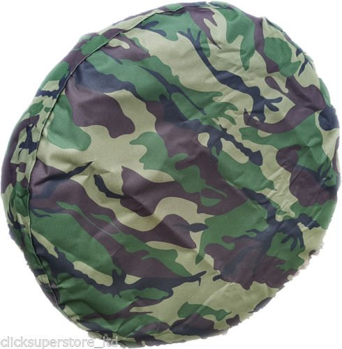 WHEEL COVER WHEELCOVER SPARE TYRE 4X4 ARMY CAMOUFLAGE CAMO GREEN - LET US KNOW YOUR SIZE BargainworldUK