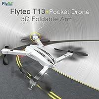 Leewa@ Flytec T13 3D Design Folding Arm Pocket UAV WIFI FPV Figure 720p -White