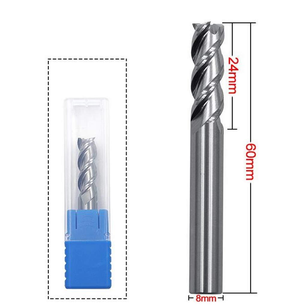 5mm B Blesiya 4 Flutes Carbide Tips End Mill Bits Straight Shank Tungsten Steel CNC Silver