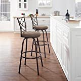 Linon Essential Home 2 Pack Metal Bar Stools