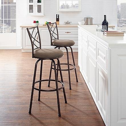Linon Essential Home 2 Pack Metal Bar Stools by Unknown