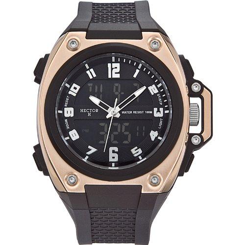13a04cee8de3 Hector H 665223 - Reloj analógico y digital de cuarzo para hombre con  correa de plástico