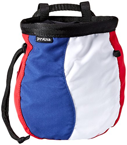 Prana Chalk Bag (prAna Geo Chalk Bag With Belt, One Size, Red White)