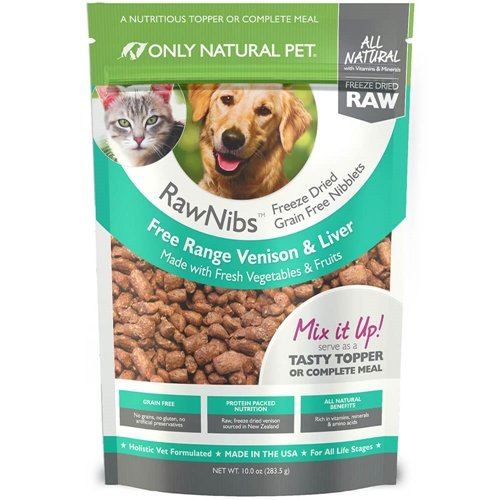 Only-Natural-Pet-RawNibs-Freeze-Dried-Venison-10-oz