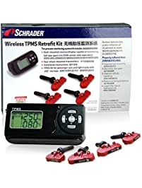 Schrader SCH-BRK-4PC TPMS Retrofit Kit For Passenger Car and Light Truck (Wireless-Battery Operated Display)