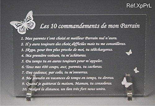 Gut bekannt Les 10 commandements de PARRAIN - Papillon texte Loin de moi  NJ18