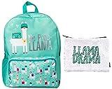 No Prob-Llama Backpack & Llama Drama Reversible Sequin Pouch