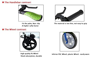 Patinete articulado de 3 ruedas para niños, color negro ...