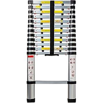 Aluminum Telescoping Ladder 12 5 Ft Professional Heavy
