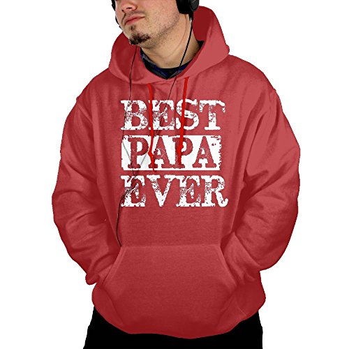 Emo Girl Mask Costume (Men's Best Papa Bear Jogging Vintage Hoodie Hoodies Size XXL Red)