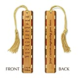Personalized J.R.R. Tolkien Quote Secret Gate Engraved Wooden Bookmark with Tassel - Search B01H2JGIRA to see non personalized version