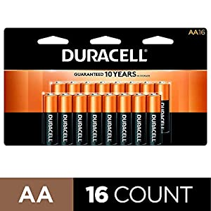 Duracell – CopperTop AA Alkaline Batteries – long lasting, all-purpose Double A battery for household and business – 16 Count