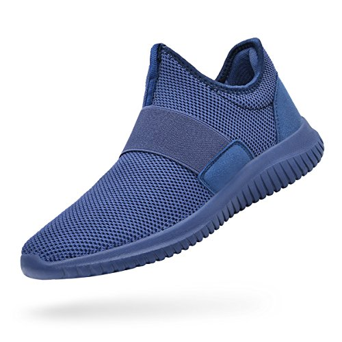 Troadlop Womens Sneakers Lightweight Breathable Mesh Slip On Casual Tennis Shoes Athletic Walking Running Sneakers Blue Size 10.5 B(M) US