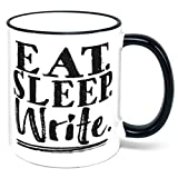 Best Gifts For Writers - Eat Sleep Write Coffee Mug writer author gift Review