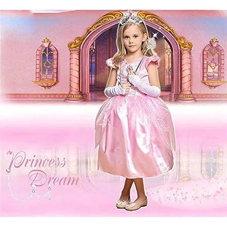 83a9d863824f8 Amazon.co.jp:  ノーブランド品 ハロウィン グリム童話 子供衣装 天使の衣装 お姫様 ワンピース ピンク ワンピース コスチューム 天使  女の子 コスプレ衣装 ...