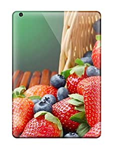 Premium [YhBNweQ67syhPC]excellent Strawberries And Blueberries Artistic Case For Ipad Air- Eco-friendly Packaging