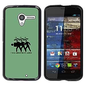 A-type Arte & diseño plástico duro Fundas Cover Cubre Hard Case Cover para Motorola Moto X 1 1st GEN I (Aliens mexicanos - Funny)