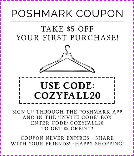 FREE Poshmark $5 Credit When You Sign Up Through The App! Coupon Code