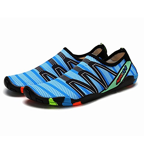 QIMAOO Barefoot Skin Shoes Water Socks, Men Women Quick Dry Water Sport...