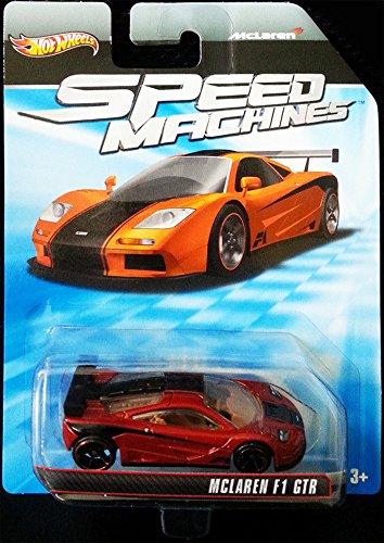 Red/Black McLAREN F1 GTR Hot Wheels Speed Machines Series Mclaren F1 GTR 1:64 Scale Collectible Die Cast Metal Toy Car Model