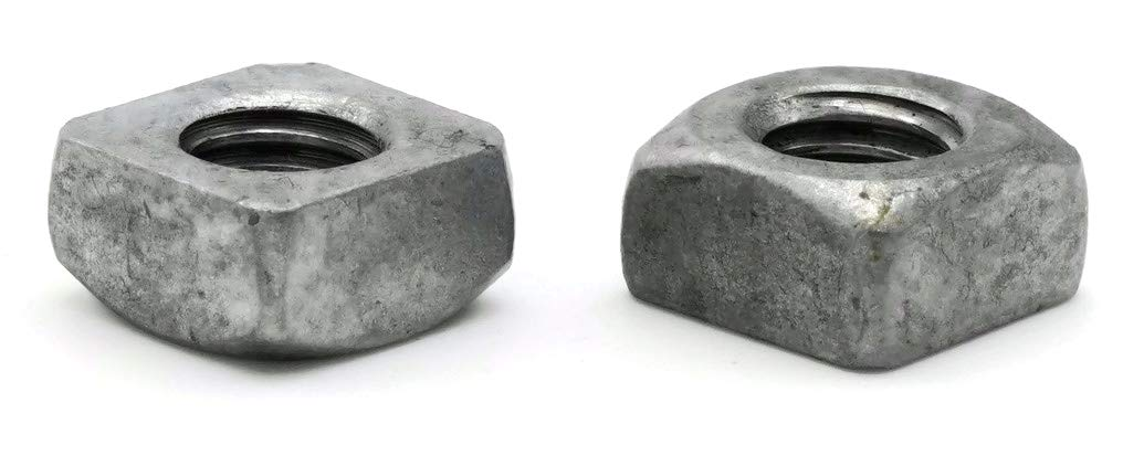 Square Nuts Hot Dipped Galvanized Grade 2-1/2''-13 UNC - Qty-25 by RAW PRODUCTS CORP