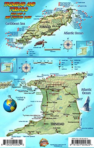 Trinidad & Tobago Dive Map & Coral Reef Creatures Guide Franko Maps Laminated Fish Card