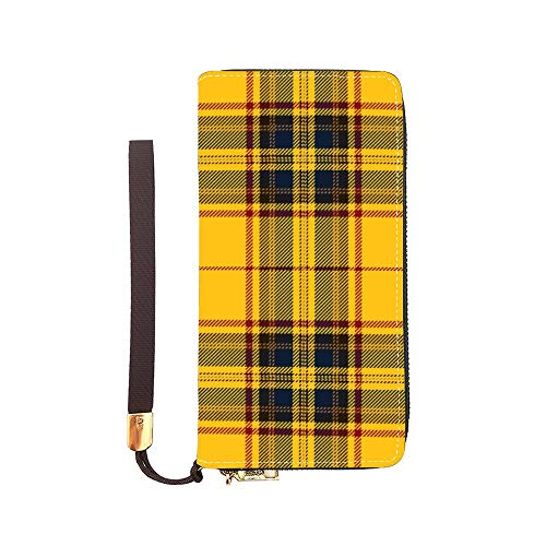 Leather Long Wallet Plaid...