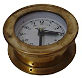 U.S. Navy Marine BRASS Wall Clock - 100% SATISFACTION - Marine / Nautical / Boat / Maritime