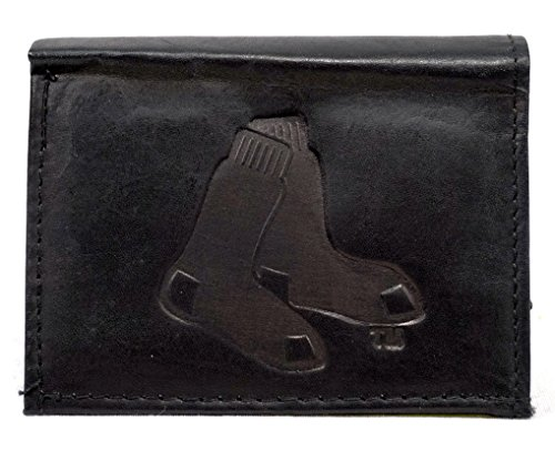 Boston Red Sox Black Leather Tri-fold Wallet