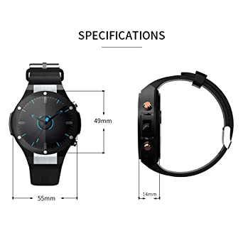 Amazon.com: Walmeck Microwear H2 Smart Watch Phone 1.39 Inch IP67 Waterproof 1GB RAM 16GB ROM 5.0MP Camera Android 5.1 Heart Rate Monitor Pedometer Calls ...