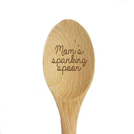 Amazoncom Moms Spanking Spoon Laser Engraved Wooden Mixing Spoon