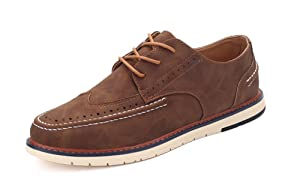 Men's Classic Oxfords Suede Dress Oxford Shoes - Brown