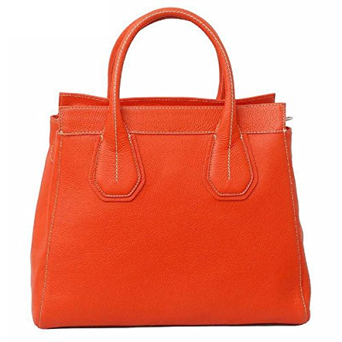 Mocnikova Mombercelli Satchel Pebbled Becerro de Orange