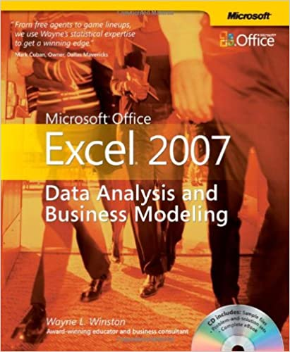 Microsoft Office Excel 2007 Data Analysis And
