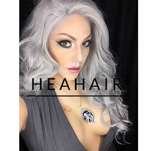 Heahair New Fashion Sliver Long Handited Synthetic Lace Front Wig for Halloween (Homemade Halloween Costumes Ideas 2015)