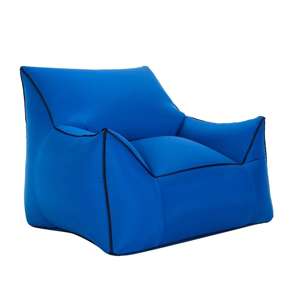 LRSFC armlehne Sitz Luft Sofa im tragbaren aufblasbare Single Sofa aufblasbares Bett Feuchtigkeit Beweis Matte fauler Sofa - Bett,Marine,übergroße