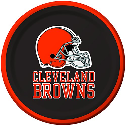 - Creative Converting 8 Count Cleveland Browns Paper Dessert Plates
