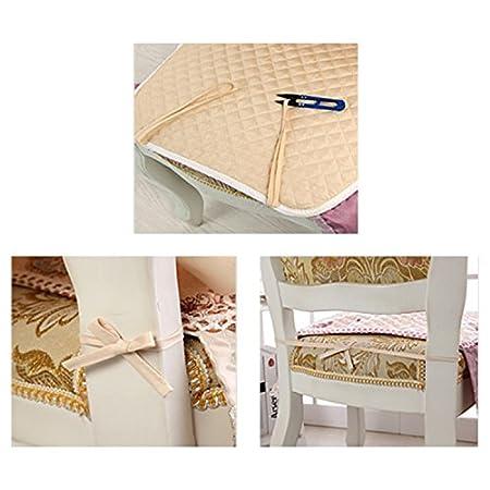 Zhi Jin r/étro Dentelle galettes de coussin carr/é Pivoine galettes de chaise avec attaches Pad pour salle /à manger Maison d/écoratifs