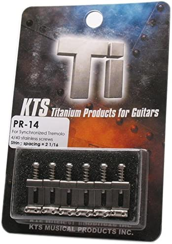 Offset Intonation Screws KTS Titanium Strat Replacement Saddles
