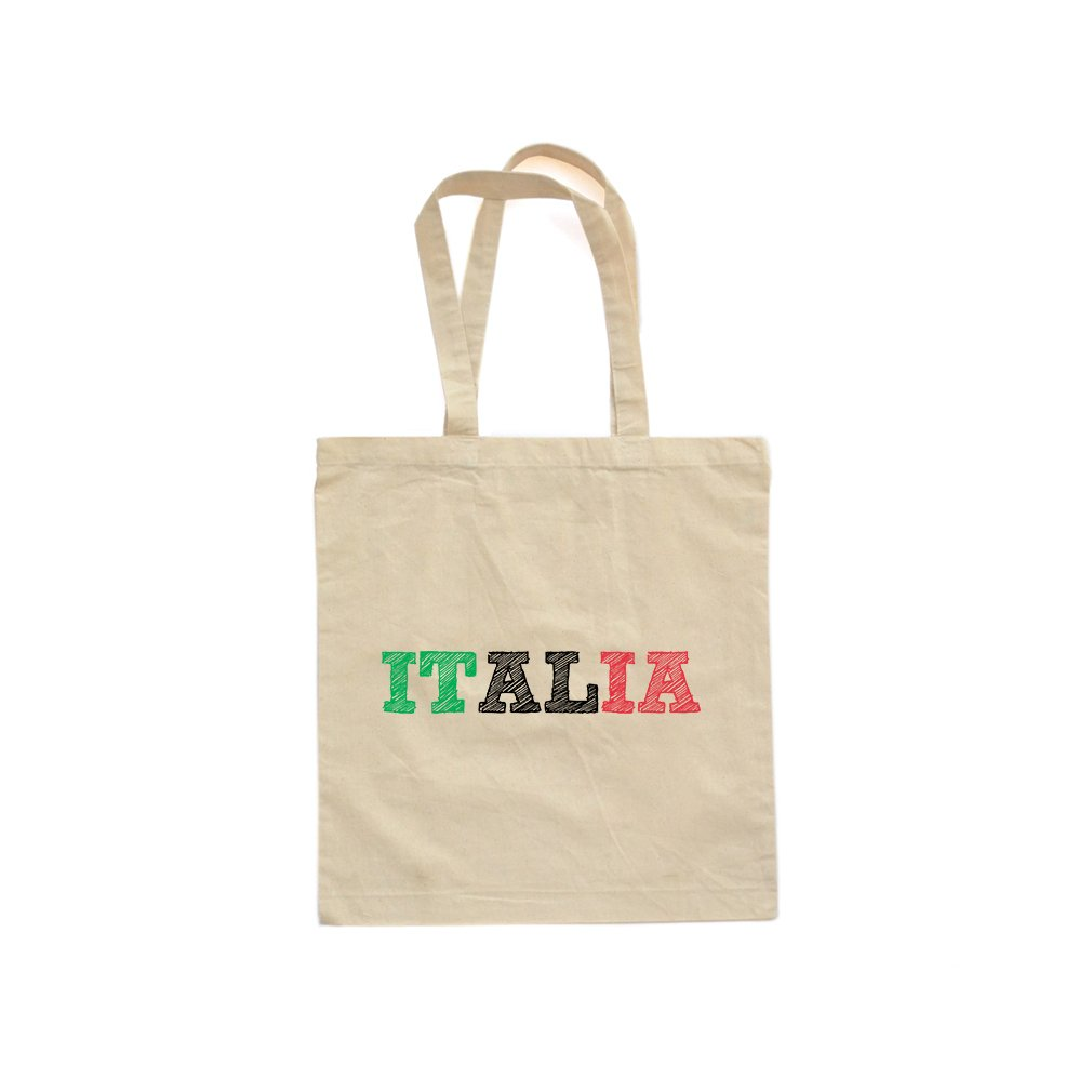 Apericots Italia Italy Flag Italian Canvas Cotton Tote Bag