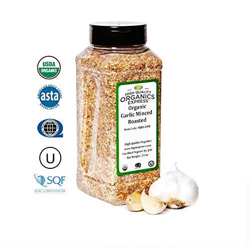 HQOExpress | Organic Garlic Minced Roasted | 23 oz. Chef Jar