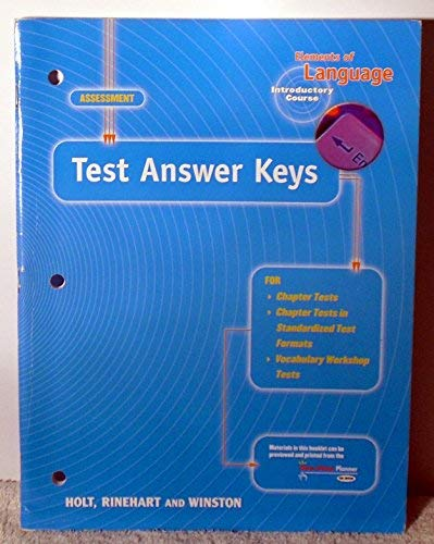Elements of Language, Introductory Course, Test Answer Keys