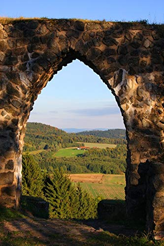 Home Comforts Canvas Print Archway Stone Wall Middle Ages Castle Goal Vivid Imagery Stretched Canvas 32 x 24