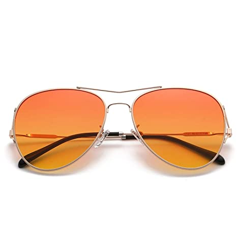 Yangjing-hl Gafas de Sol de Metal de Moda de Moda película ...