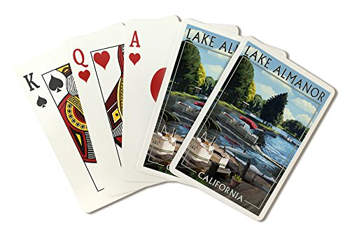 Lake Almanor, California - Pontoon Boats (Playing Card Deck - 52 Card Poker Size with Jokers) by Lantern Press