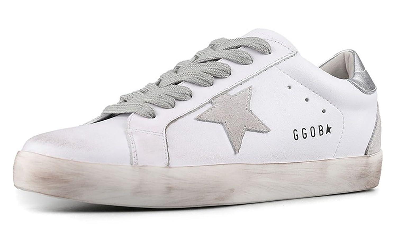 GGDB Golden Goose Sneakers Women Super Star Sport Casual Walking Dirty Shoes White/Silver 8M B07CJXM9RP Parent