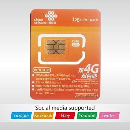 Amazon.com: China Unicom tarjeta SIM de prepago, puede ...