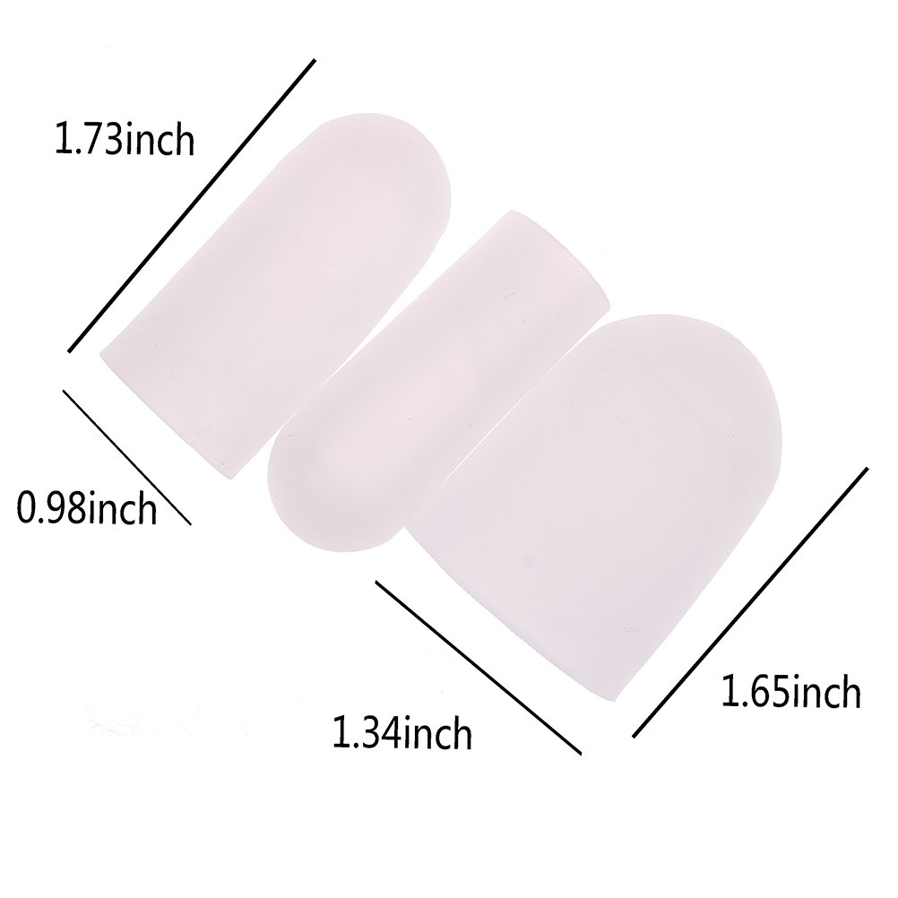 Haishell 3 Pairs Gel Toe Cap and Protector - Cushions to Protect the Toe and Provides Relief from Missing or Ingrown Toenails,Corns,Blisters,Hammer Toes - 1 Pairs Big + 2 Pairs Small by Haishell (Image #3)