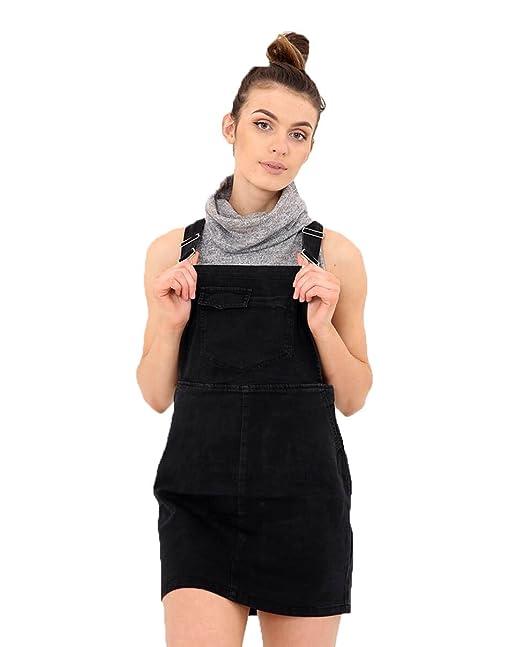2f0d5d7faa3 Black Dungaree Dress Bib Overall Skirt Short Bib Skirt  Amazon.ca ...